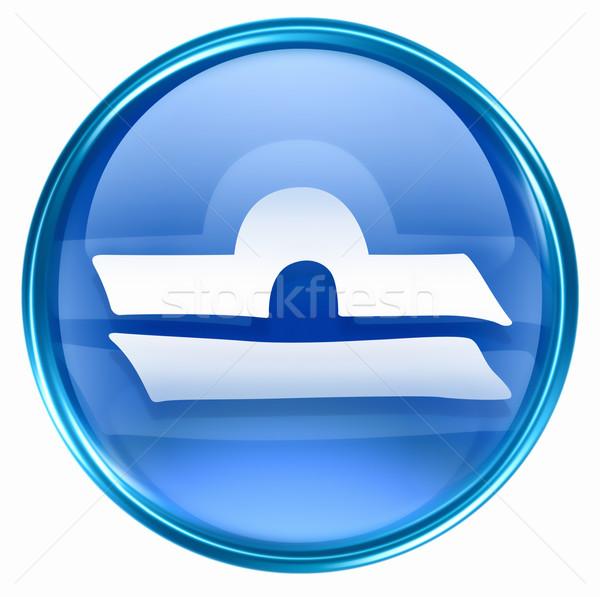 Libra zodiac button icon, isolated on white background. Stock photo © zeffss