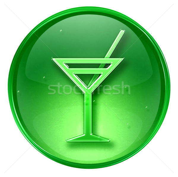 wineglass icon green, isolated on white background. Stock photo © zeffss