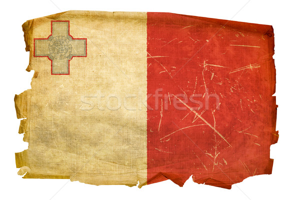 Maltese Flag old, isolated on white background Stock photo © zeffss
