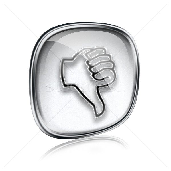 thumb down icon grey glass, isolated on white background. Stock photo © zeffss