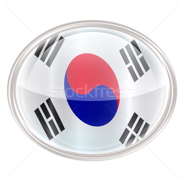South Korea Flag Icon, isolated on white background. Stock photo © zeffss