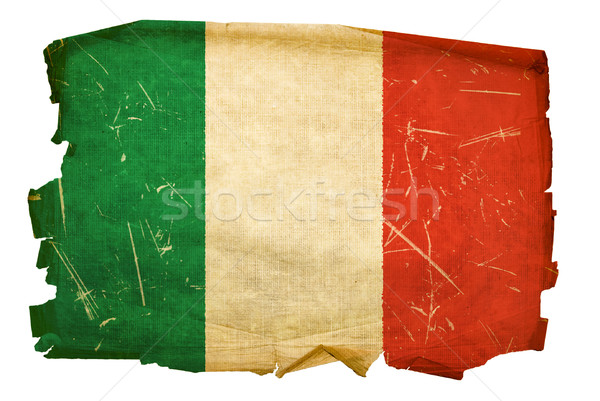 Italy Flag old, isolated on white background. Stock photo © zeffss