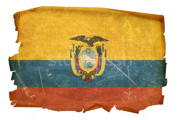 Ecuadorian Flag old, isolated on white background. Stock photo © zeffss