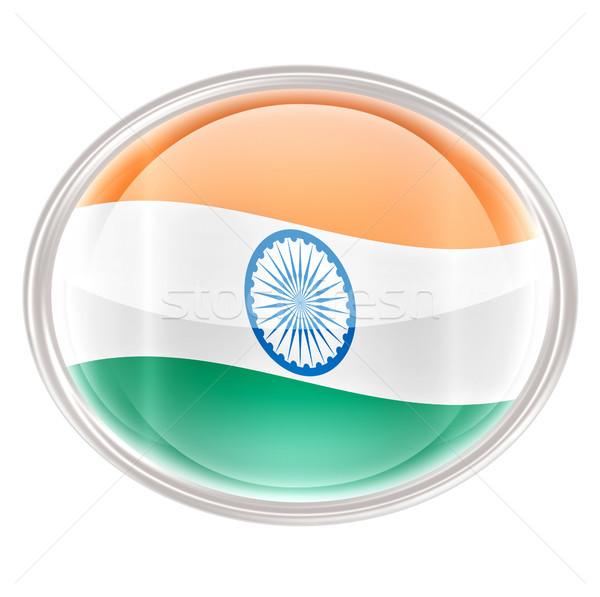 India Flag icon, isolated on white background Stock photo © zeffss