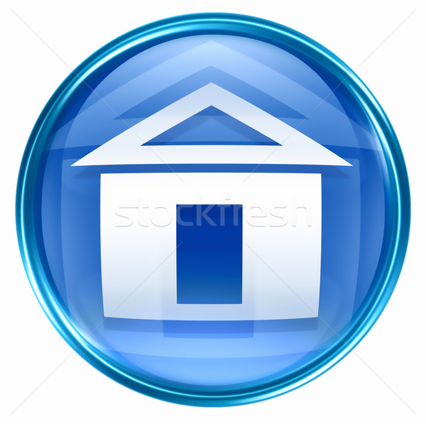 home icon blue, isolated on white background Stock photo © zeffss