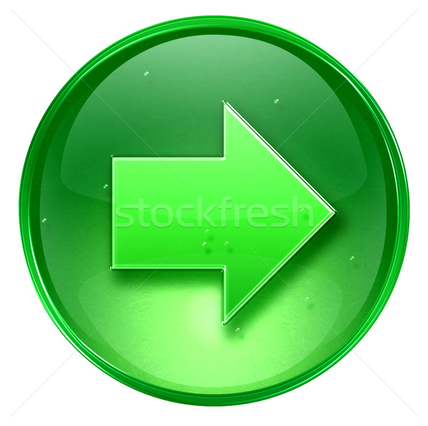 Arrow right icon green, isolated on white background. Stock photo © zeffss