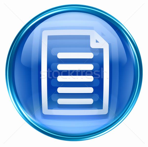 Document icon blue, isolated on white background Stock photo © zeffss