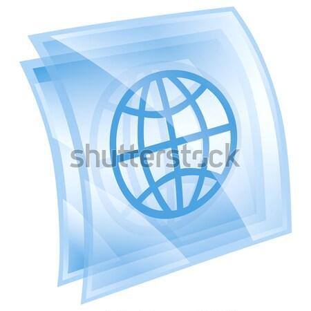 Banderą ikona odizolowany biały świat podpisania Zdjęcia stock © zeffss
