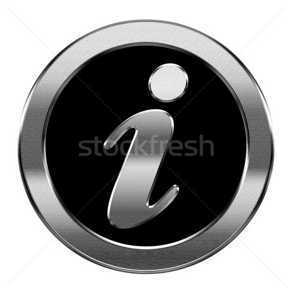 information icon silver, isolated on white background Stock photo © zeffss