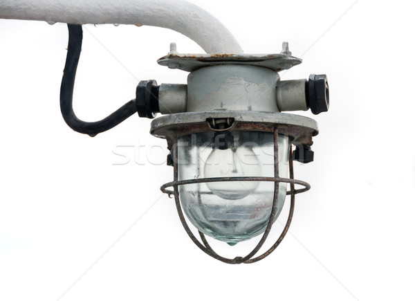 Eski fener ışık gemi yalıtılmış beyaz Stok fotoğraf © zeffss