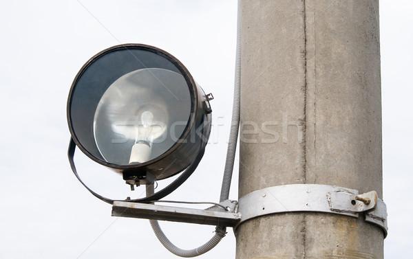 Old spotlight on pole Stock photo © zeffss