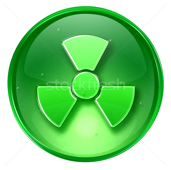 Radioactive icon green, isolated on white background. Stock photo © zeffss