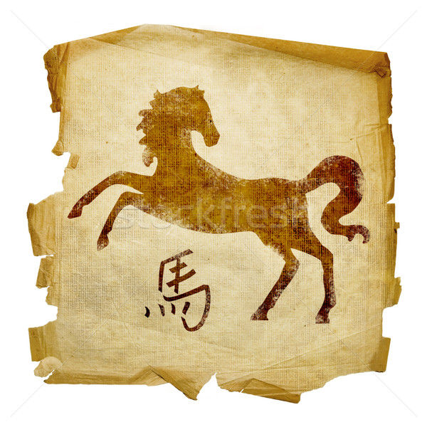 Horse Zodiac icon, isolated on white background. Stock photo © zeffss