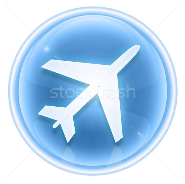 Stockfoto: Informatie · icon · ijs · geïsoleerd · witte · glas