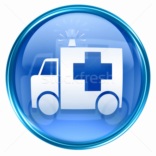 First aid icon blue, isolated on white background. Stock photo © zeffss