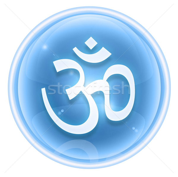 Om Symbol icon ice, isolated on white background. Stock photo © zeffss