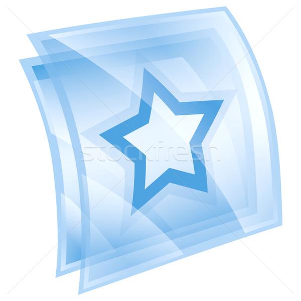 Stok fotoğraf: Star · ikon · mavi · yalıtılmış · beyaz · Internet