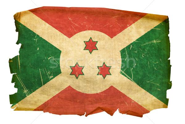 Boeroendi vlag oude geïsoleerd witte schilderij Stockfoto © zeffss