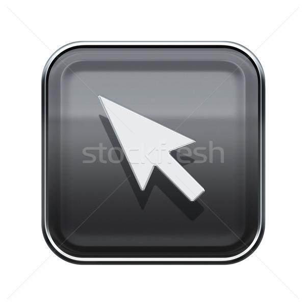 Cursor ícone cinza isolado branco Foto stock © zeffss