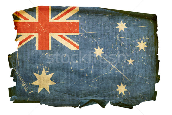 オーストラリア フラグ 古い 孤立した 白 絵画 ストックフォト © zeffss