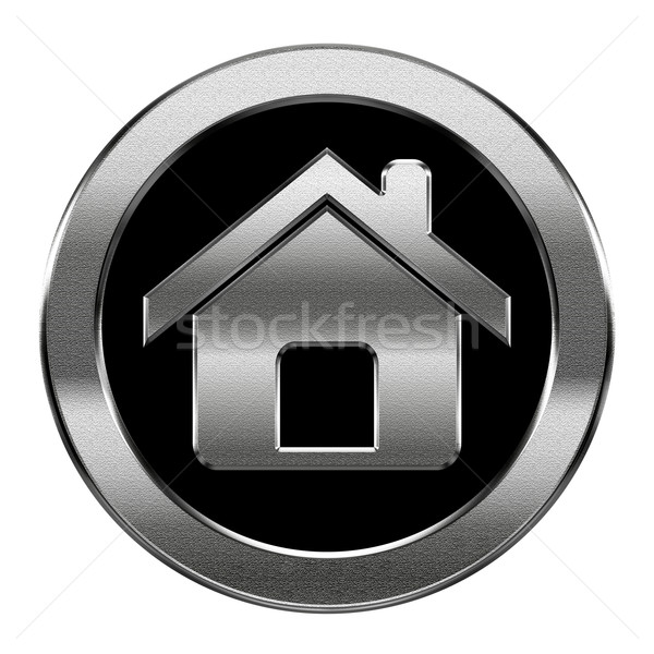 home icon silver, isolated on white background Stock photo © zeffss