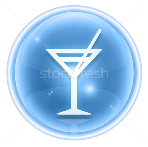 wine-glass icon ice, isolated on white background. Stock photo © zeffss