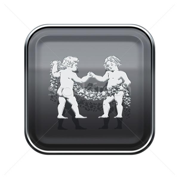 Dierenriem icon grijs geïsoleerd witte internet Stockfoto © zeffss