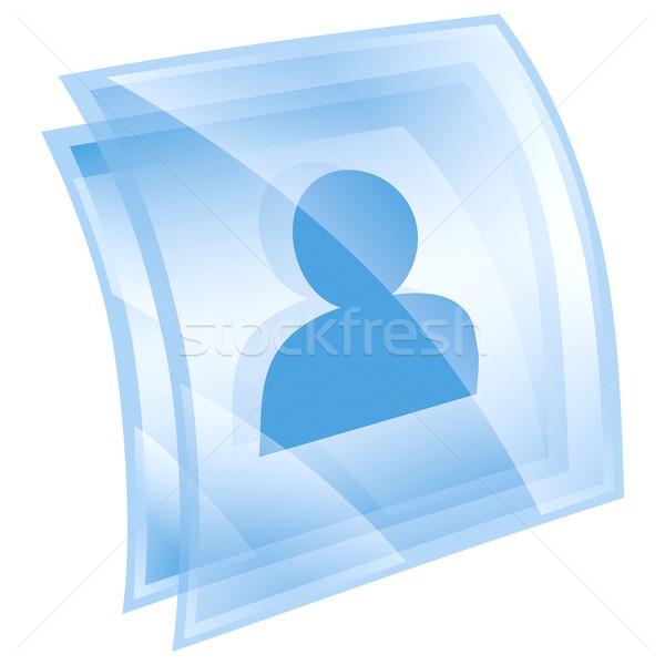 user icon blue, isolated on white background Stock photo © zeffss