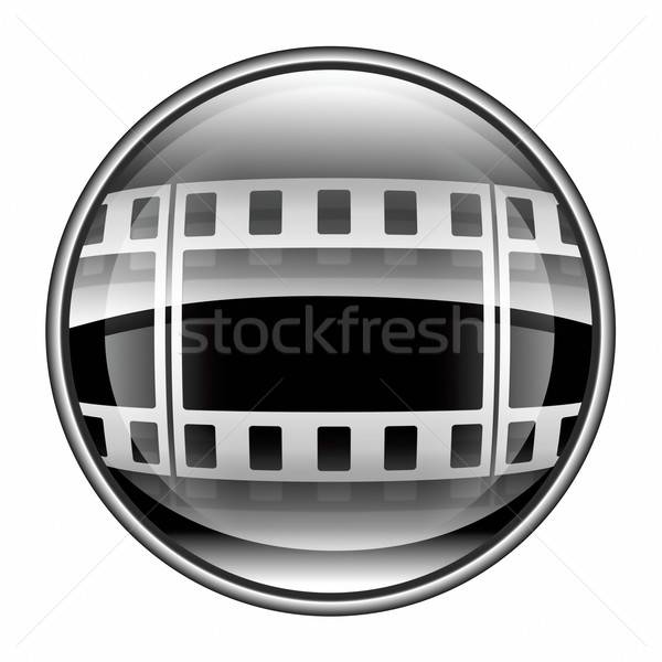 Film icon black, isolated on white background. Stock photo © zeffss