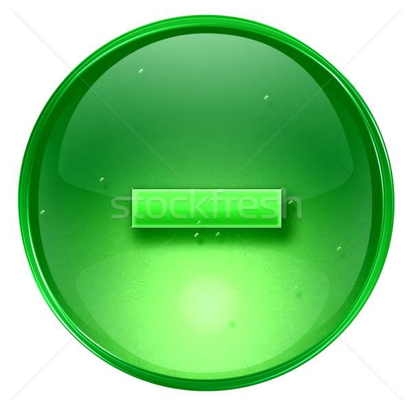 Сток-фото: икона · зеленый · изолированный · белый · компьютер · свет