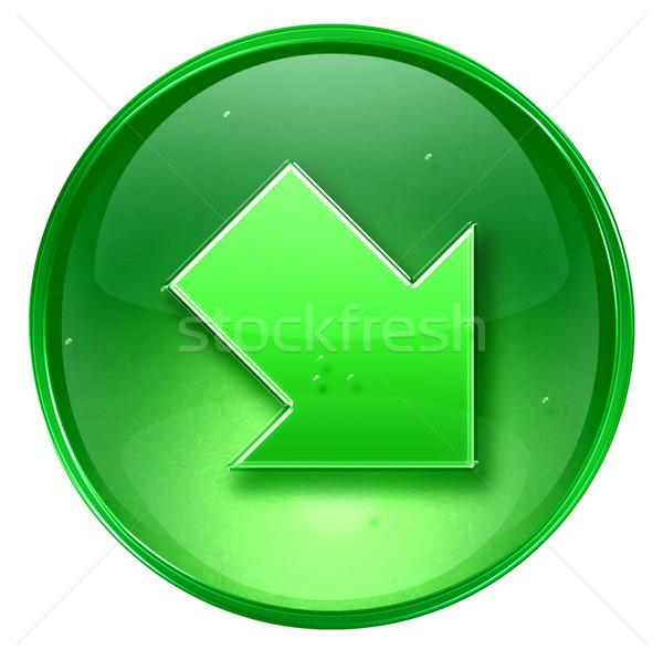 Arrow icon green, isolated on white background Stock photo © zeffss