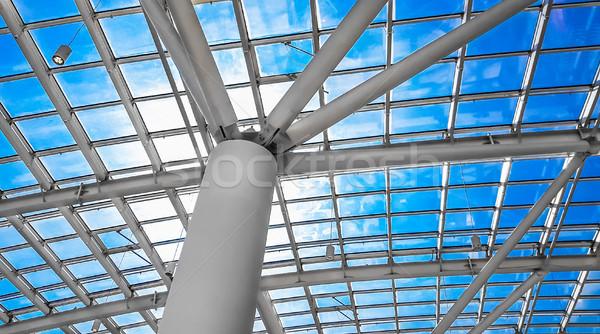Dakraam venster abstract bouwkundig architectuur business Stockfoto © zeffss