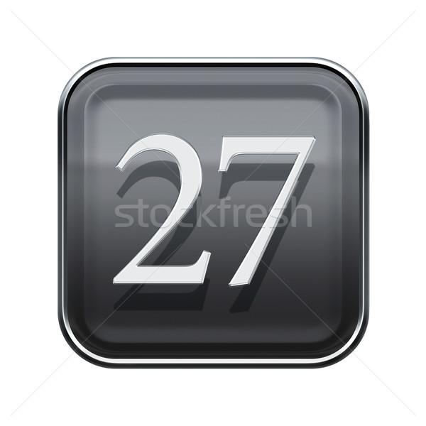Húsz hét ikon szürke fényes izolált Stock fotó © zeffss