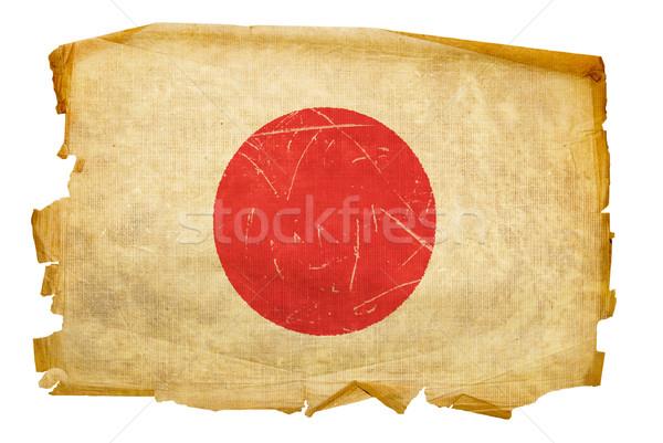 Stok fotoğraf: Japonya · bayrak · eski · yalıtılmış · beyaz · arka · plan