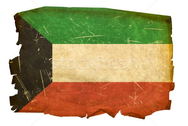 Kuwait bandiera vecchio isolato bianco pittura Foto d'archivio © zeffss