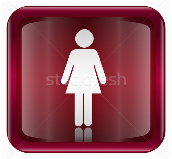 Сток-фото: женщину · икона · темно · красный · изолированный · белый