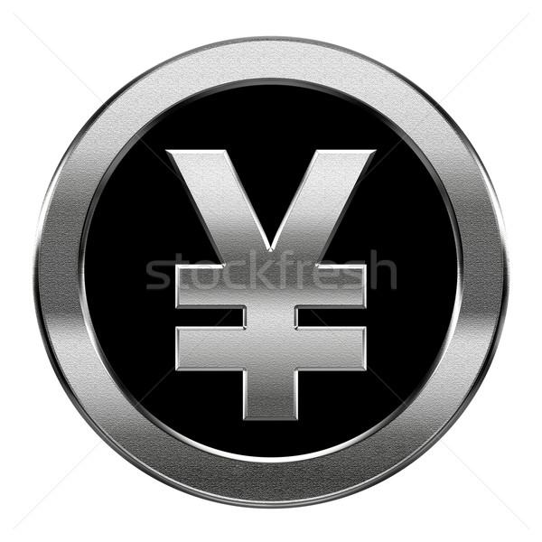 Yen ikon ezüst izolált fehér üveg Stock fotó © zeffss