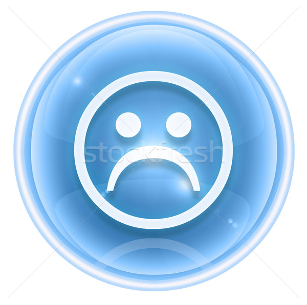 Smiley icon dissatisfied ice, isolated on white background. Stock photo © zeffss