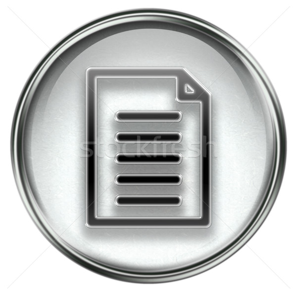 Document icon grijs geïsoleerd witte business Stockfoto © zeffss