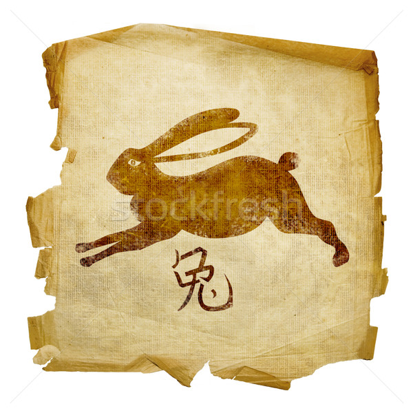 Rabbit  Zodiac icon, isolated on white background. Stock photo © zeffss