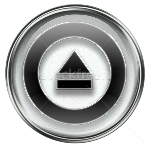 Eject icon grey Stock photo © zeffss