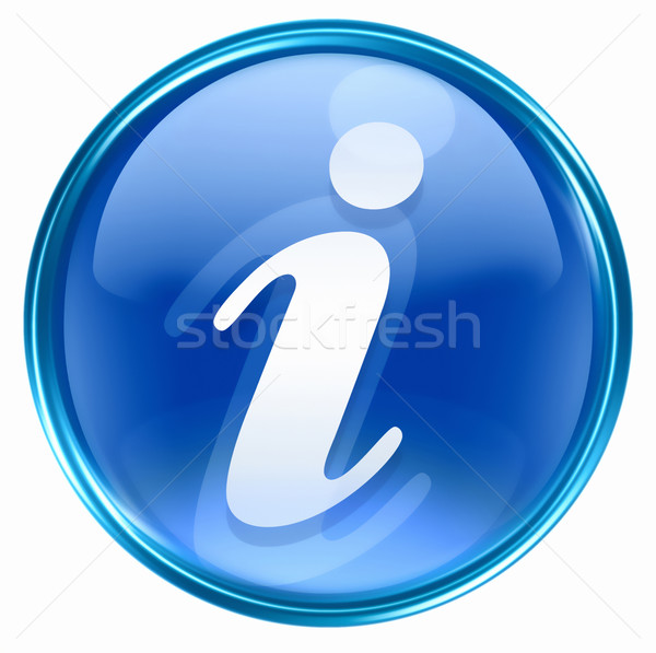 Stock photo: information icon blue, isolated on white background
