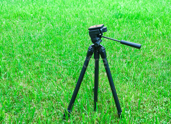 tripod for the camera on natural background Stock photo © zeffss