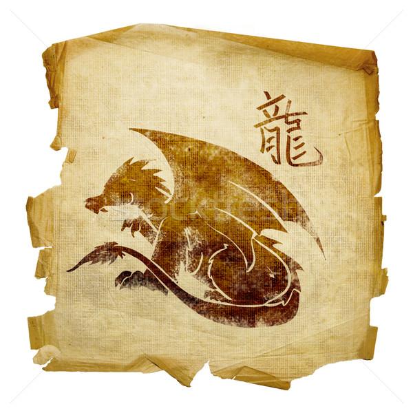 Dragon Zodiac icon, isolated on white background. Stock photo © zeffss