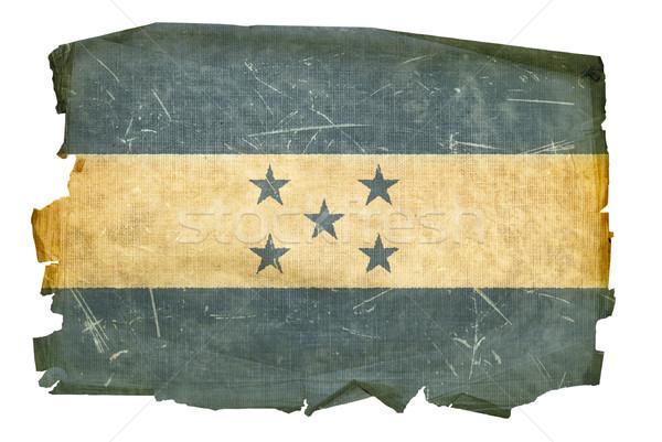 Гондурас флаг старые изолированный белый Живопись Сток-фото © zeffss