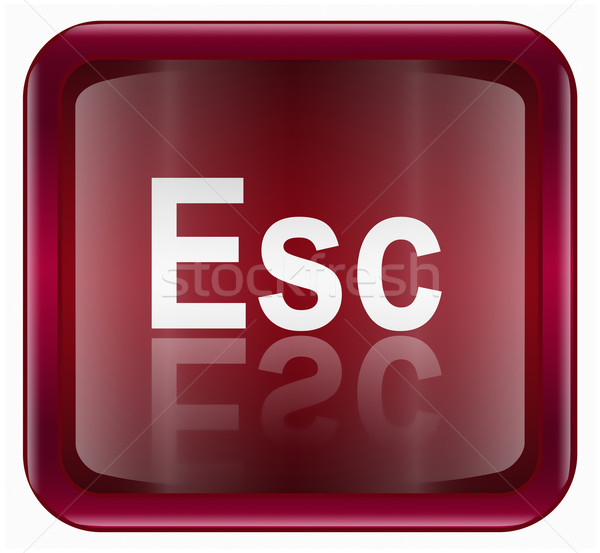 Esc icon dark red, isolated on white background Stock photo © zeffss