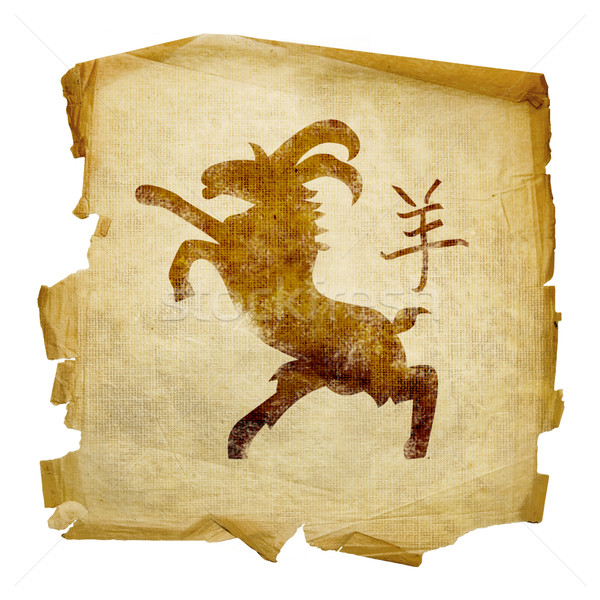 Goat  Zodiac icon, isolated on white background. Stock photo © zeffss