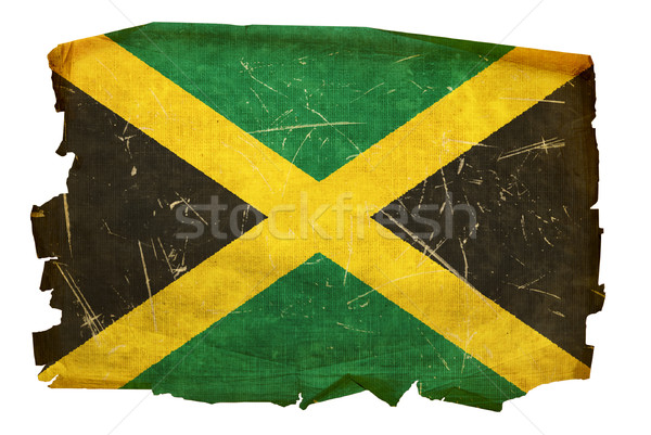 Jamaica Flag old, isolated on white background. Stock photo © zeffss