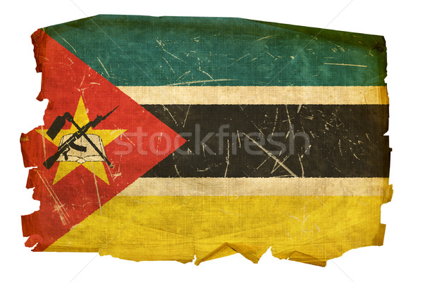 Mozambique Flag old, isolated on white background. Stock photo © zeffss