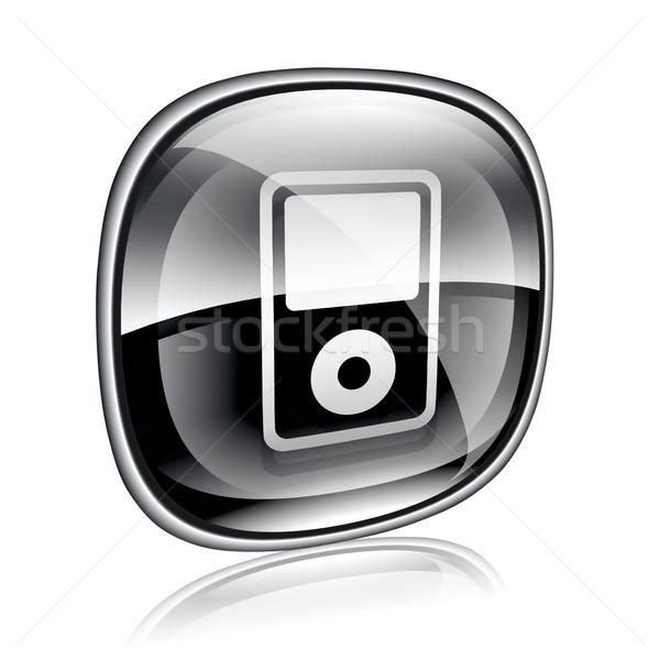 Mp3-плеер черный стекла изолированный белый компьютер Сток-фото © zeffss